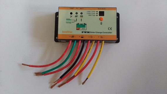 Controlador De Carga Solar 10a 12v/24v - Pronta Entrega.
