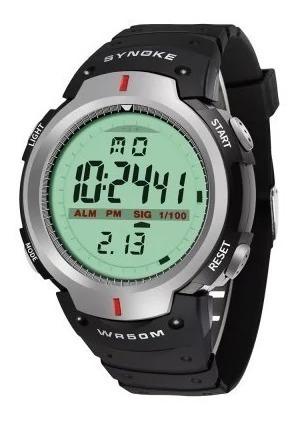 Relógio Masculino Synoke Wr50m Digital Pulso 61576 Top