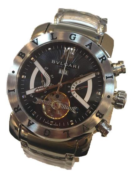 Relógio Bvlgari Iron Man Maquinário Automático Vidro Safira