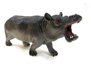 Juguete Animales Selva Goma Hipopotamo Grande Jungla 28
