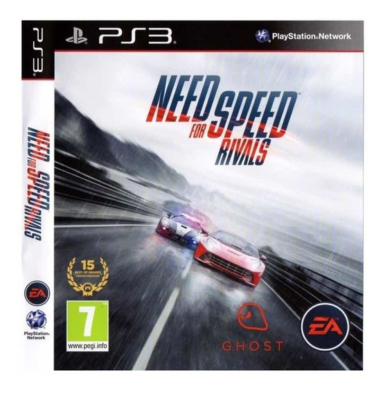 Need For Speed Rivals + Pes 18 - Ps3 - Mídia Digital