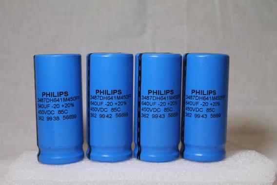 Lote 12 Peças Capacitor Eletrolitico 640uf 450v Philips