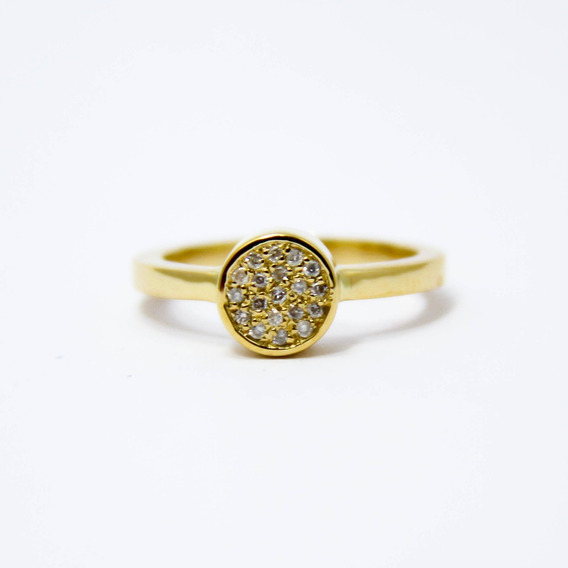 Anel Em Ouro 18k-750 Com Diamantes