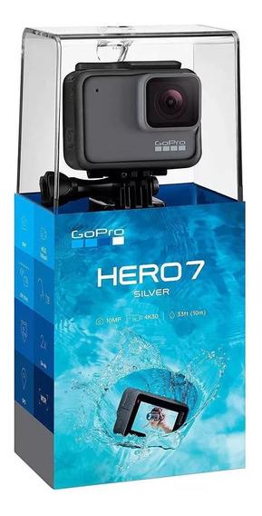 Câmera Digital Gopro Hero 7 Silver 4k30 1080p Wifi Agua 10m