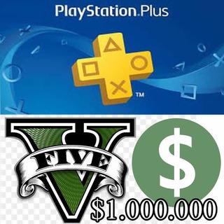 Ps Plus + Millones Para Gta Online