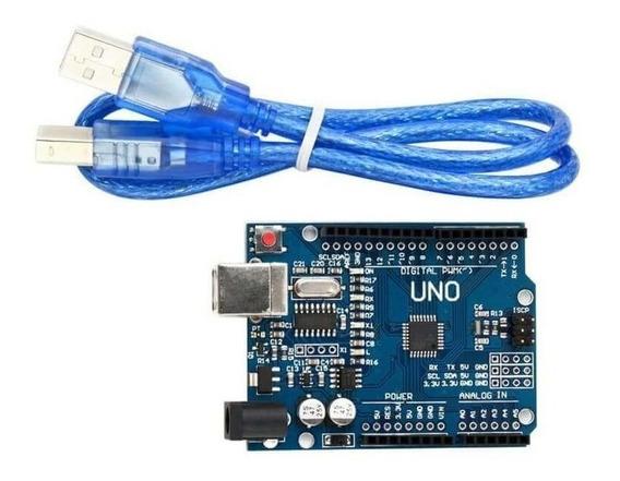 Arduino Uno Smd Atmega328 Ch340g Com Cabo Usb