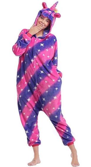 Pijama Disfraz Estrellas Unicornio Kigurumi Adulto