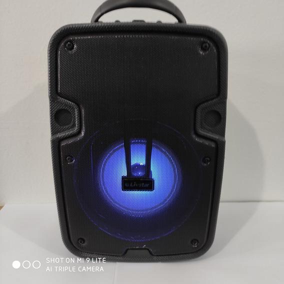 Caixa De Som Portátil Com Rádio Fm Usb 40 Rms Bluetooth