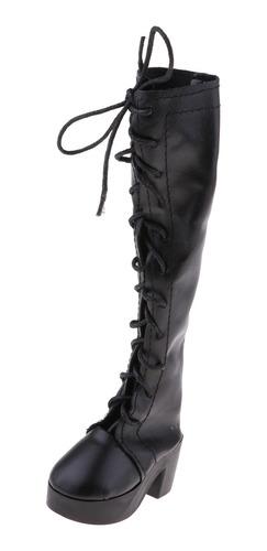 Imagen 1 de 6 de Zapatos De Muñeca De Moda Con Cordones Negros Para 1/3 Bjd
