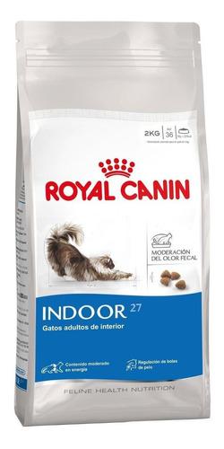 Alimento Royal Canin Feline Health Nutrition Indoor 27 para gato adulto sabor mix en bolsa de 2kg