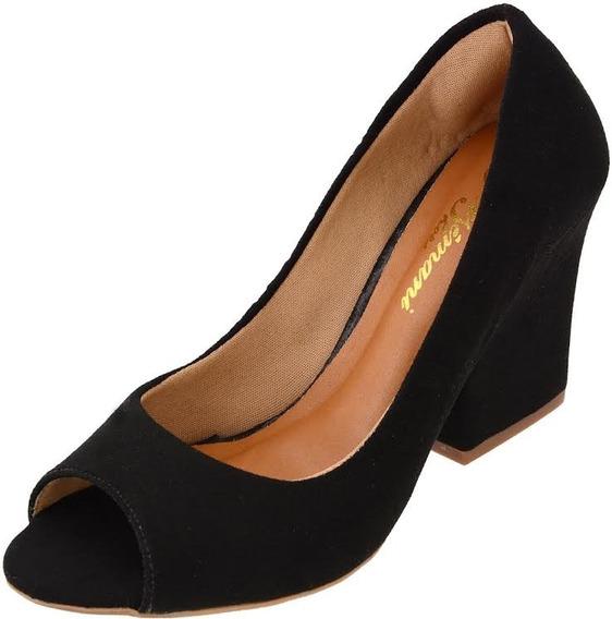 Sapato Peep Toe Feminino Adulto Ester Elegance Ref.:1313p