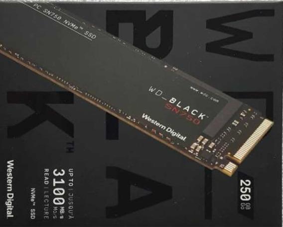 Ssd Wd 250 Gb Black , Nvme Pci , Ultra Rápido