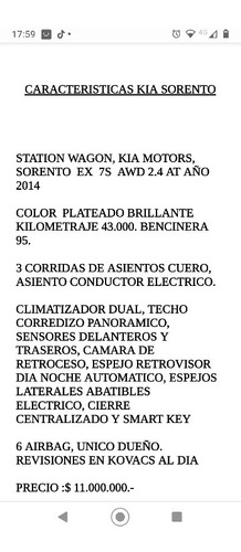 Kia Sorento 2014 Full, Automático 7 P