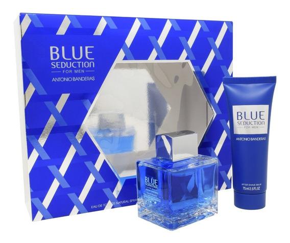 Set Blue Seduction 2pzs 100 Ml Edt Spray + After Shave 75 Ml