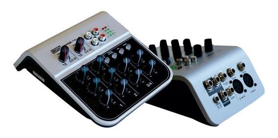 Mixer Boxx Mix 02 1a Com 4 Canais Bivolt 4 Canais