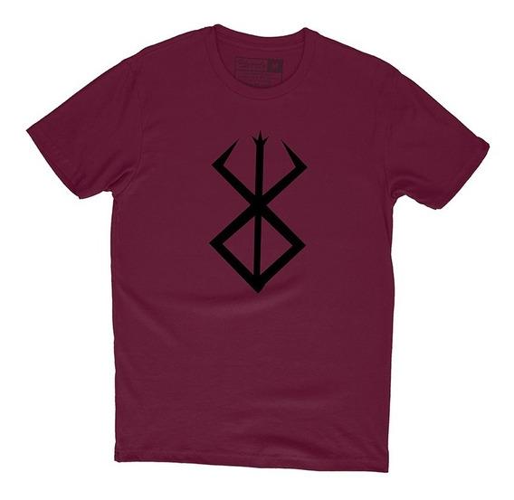 Camiseta Berserk Marca Do Sacrificio Guts Camisa Animes