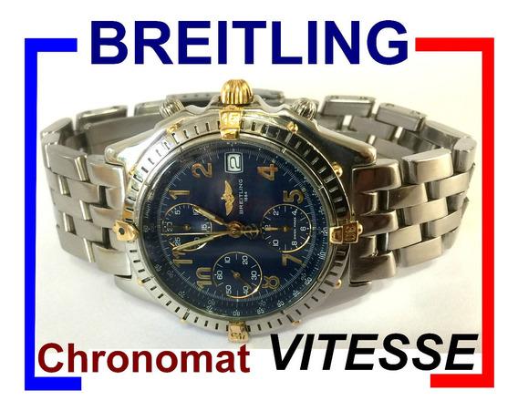 Breitling Chronomat Vitesse Azul Auto Revisado Ref B13050-1