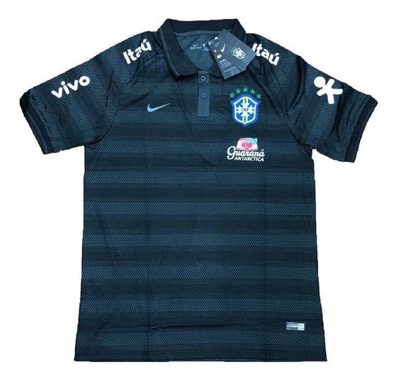 Camisa Polo Seleçao Brasileira Brasil Oficial Viagem 2019