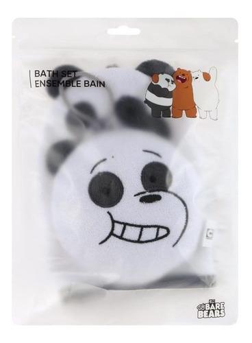 Imagem 1 de 3 de Conjunto Esponjas De Banho Ursos Sem Curso Panda Miniso