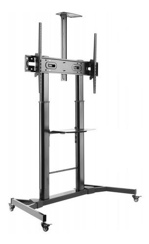 Pedestal Para Tv Monitor 65 Hasta 100 PuLG - Con Rueda 100kg