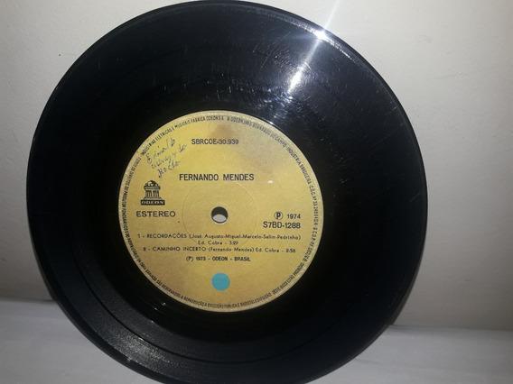 Compacto Fernando Mendes 1974 A Desconhecida Ja 33