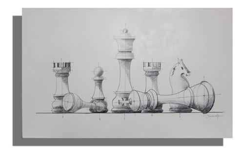 Imagen 1 de 5 de Cuadro Decorativo Ajedrez Këssa Muebles