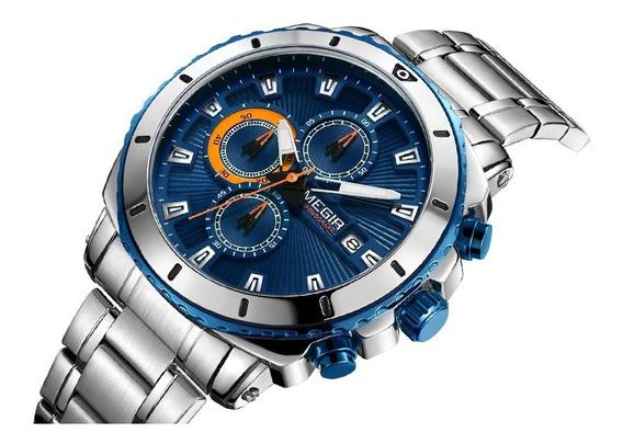 Relógio Megir 2075g + (casio Vintage Retrô Modelo A159)