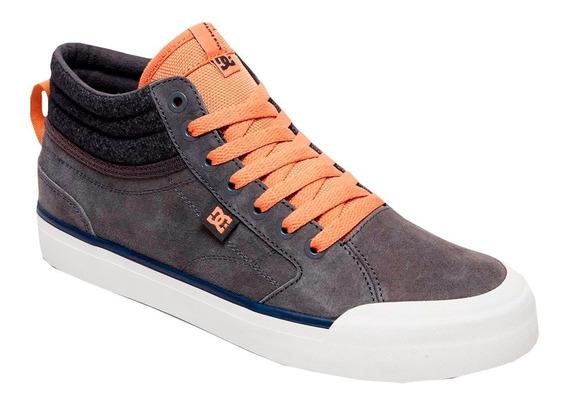 Tenis Hombre Calzado Tipo Bota Adys300412-2gg Grey Dc Shoes