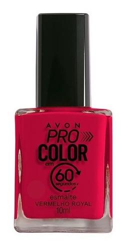 Imagem 1 de 1 de Avon - Pro Color 60 Segundos - Esmalte - Vermelho Royal