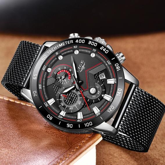 Relógio De Luxo Quartzo À Prova D
