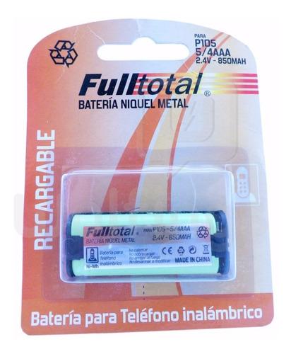 1 Bateria P105 5/4 Aaa Recargable 850 Mah 2.4v Telefono Inal