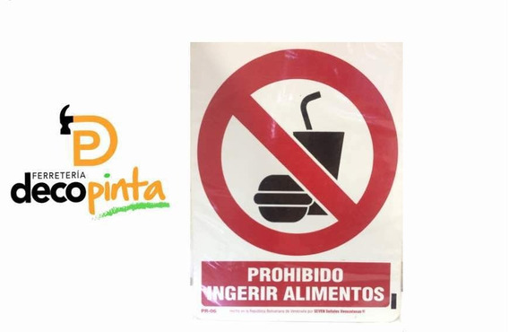 Señalizacion Prohibido Ingerir Alimentos