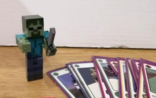 Personaje Minecraft Zombi Original Lego + Juego Cartas