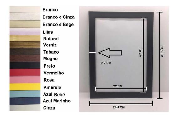 Porta Retrato Kit Com 10 Molduras A4 | 21x30 C/vidro
