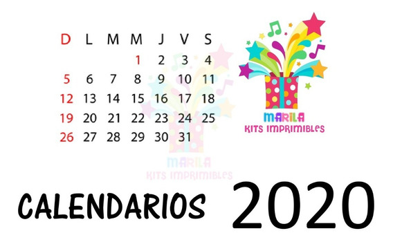 Kit Imprimible Calendario 2020 Editables Power Point