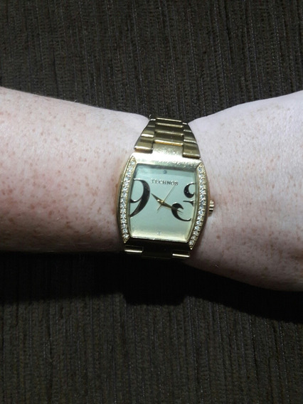 Relógio Feminino Dourado Technos 2035wv