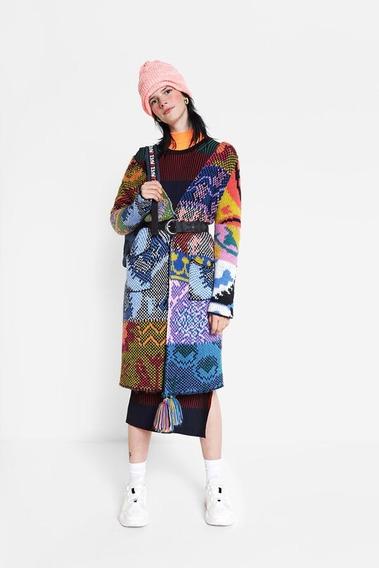 Chaqueta Larga Dama Textil Multicolor Desigual