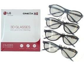 Kit Oculos 3d Lg Caixa Com 4 Unidades
