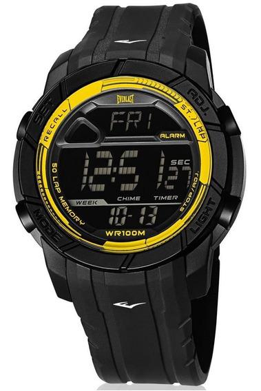 Relógio Everlast Masculino Ref: E702 Digital Esportivo Preto