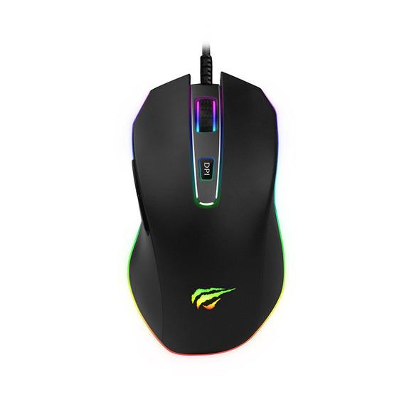 Mouse Gamer Havit Hv Ms837 Rgb 7 Botões 7000 Dpi Usb