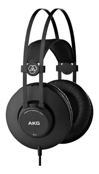 Fone Profissional Akg K52 Over Ear Fechado Estudio Gravação