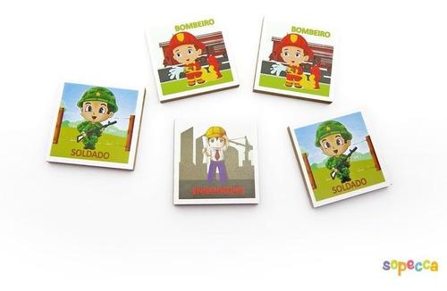 Imagem 1 de 4 de Brinquedo Jogo De Memória Profissões Educativas Infantil