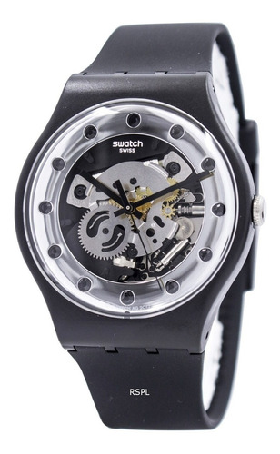 Original En Suoz724 Skeleton Caja Reloj Swatch Nuevo UzLSGjMVqp