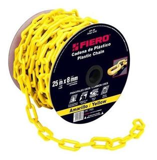 Cadena Plastica 8 Mm X 25 Mt Amarilla Fiero 44182