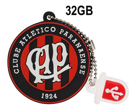 Pen Drive Atletico Paranaense 32gb Atletico - Emborrachado