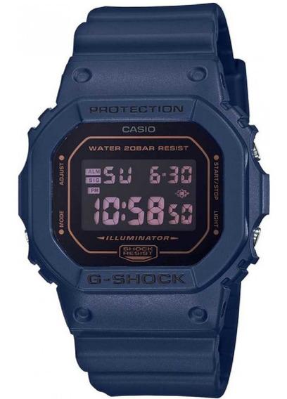 Relógio Casio G-shock Azul Dw-5600 Masculino Resina Original