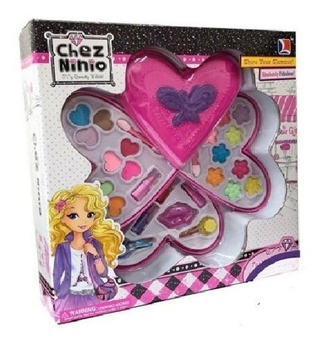 Set De Maquillaje Chez Ninio Tres Pisos Para Niñas Corazón