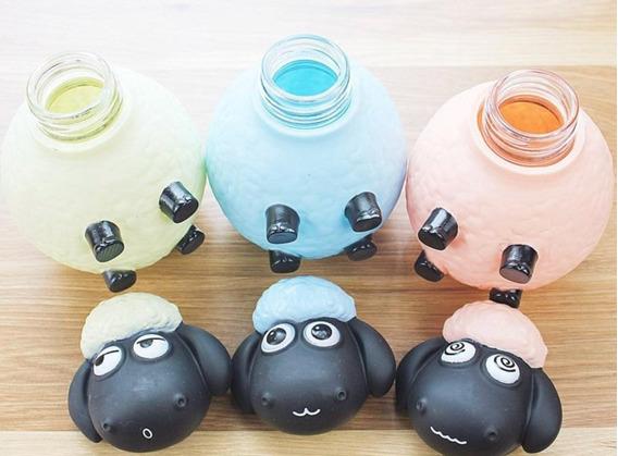 Termo Contenedor Botella Agua Niños Forma Oveja Animal Color