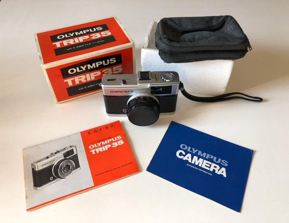 Máquina Fotográfica Olympus Trip 35 - Novíssima C/ Manual