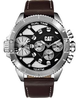 Reloj Caterpillar Hombre Sumergible Serie Dual Time Silver